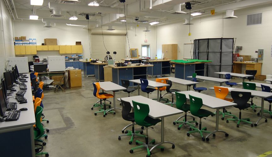 Classroom Lab Design : Multi purpose stem lab tables and computer workstations