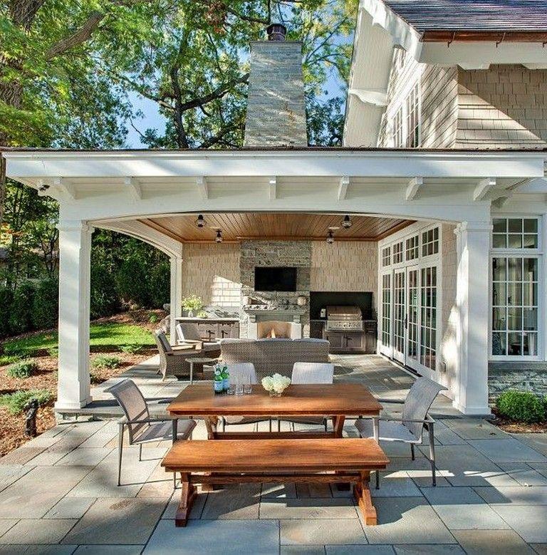 33 Comfy Backyard Patio Design Ideas Covered Patio Design Outdoor Covered Patio Patio Design