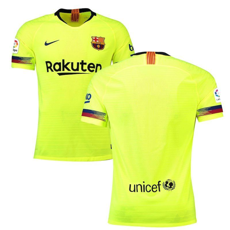 Barcelona Nike 2018 19 Away Authentic Vapor Match Patch Jersey – Yellow   vaporizers d66ad7c6c