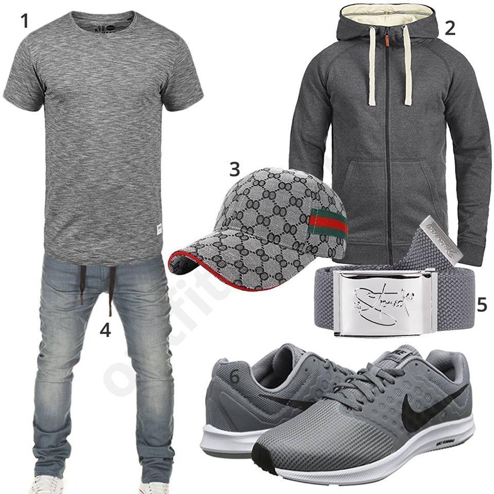 Graunes Outfit mit cooler Ukerdo Cap (m0478 | Herren outfit