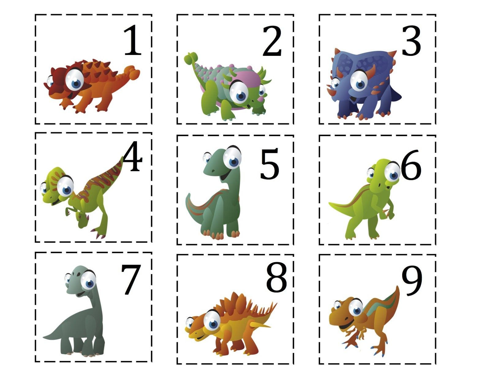 Ten Terrible Dinosaurs Printable