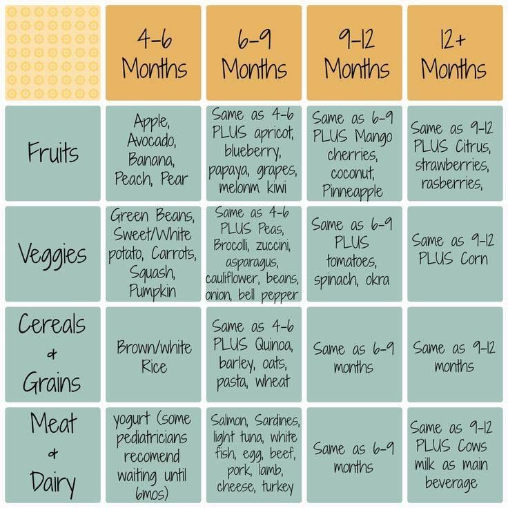 Discover ideas about baby food recipes stage also infant introduction schedule for led weaning rh pinterest