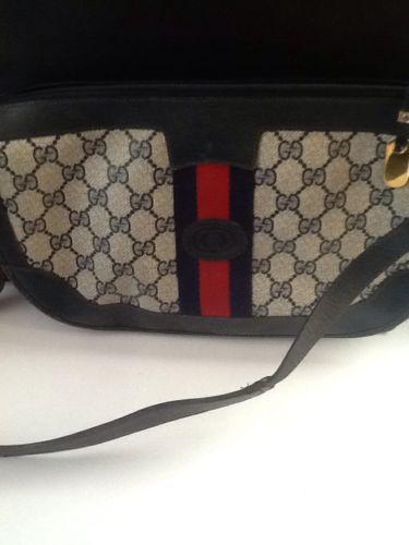 f399e196f21f Gucci Vintage Blue purse - 100% authentic   eBay   Pinterest