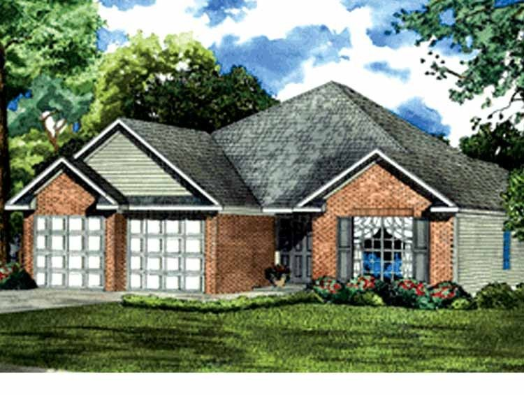 Ranch Style House Plan 3 Beds 2 Baths 1489 Sq Ft Plan 17 3224 Traditional House Plan Architectural Design House Plans Country House Plans