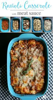 Photo of Ravioli Casserole with Meat Sauce   – Food & Recipes – #cass…