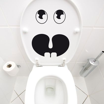 petit monstre stickers wc pinterest stickers toilettes et deco. Black Bedroom Furniture Sets. Home Design Ideas
