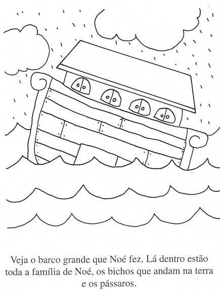 Desenhos Para Colorir E Pintar A Arca De Noe Com Imagens