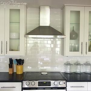 cape 27 kitchens glass canisters stainless steel appliances
