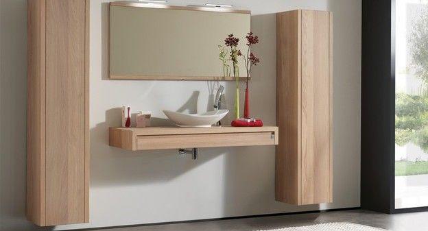 Aither minimalistisch en nmodern badkamermeubel met kolomkasten