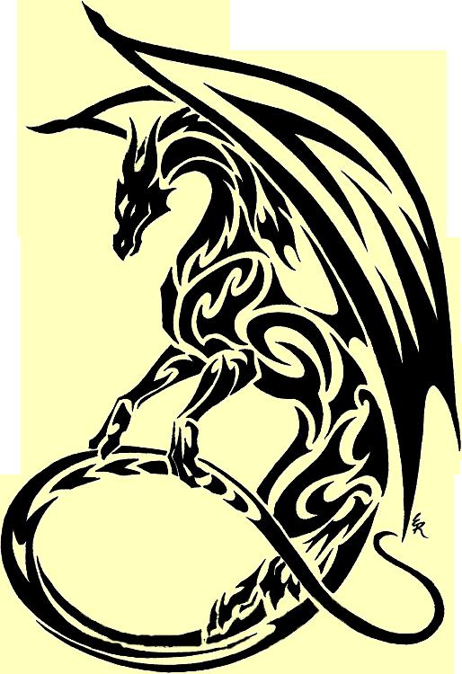 Tribal Dragon Clipart Best Tribal dragon tattoos, Dragon