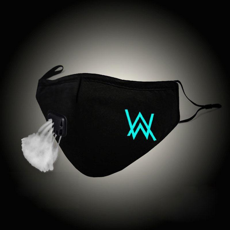 Accessories Glow In Dark Fashion Mouth Mask Alan Walker Faded