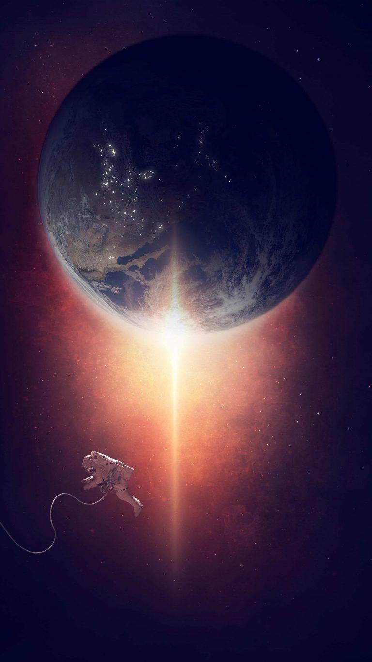 LostAstronautinSpaceiPhoneWallpaper (มีรูปภาพ) พื้น