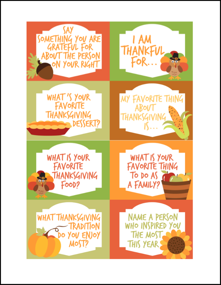 image relating to Printable Thanksgiving Pictures named Thanksgiving Interaction Starters Cost-free Printables