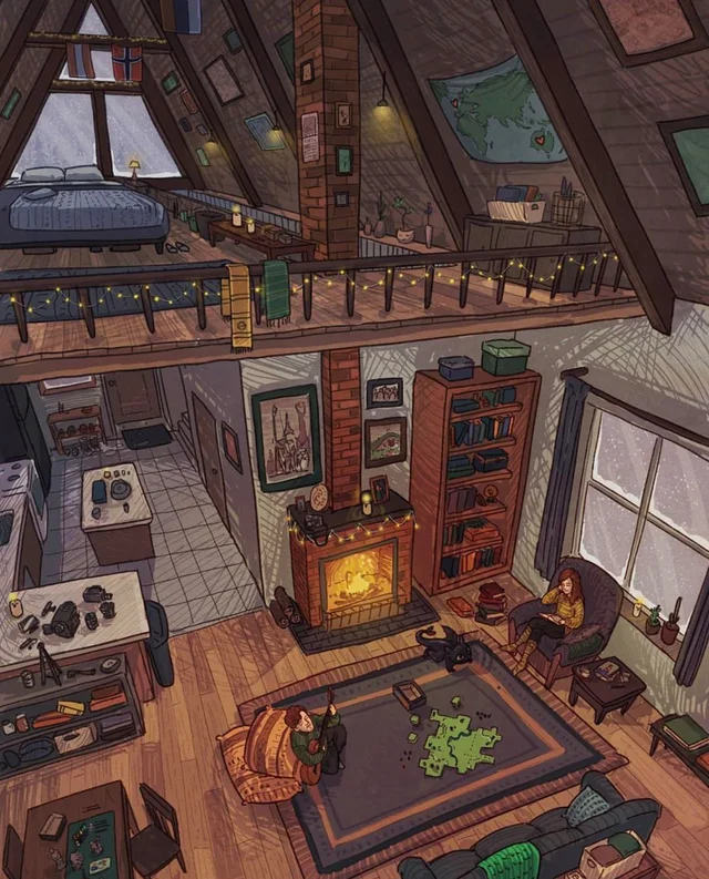 Peaceful Cozyplaces Cabin Art Cozy Cabin Minecraft Houses