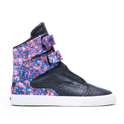 SUPRA Footwear™ | Official Store | WOMENS SOCIETY II | BLACK/FLORAL - WHITE