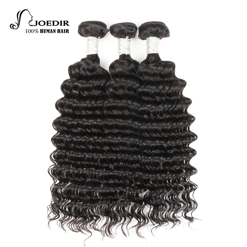 Joedir Pre Colored Brazilian Deep Wave Human Hair Bundles Deals 3