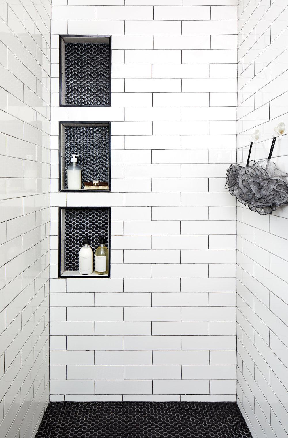 Downtown Dc Loft Shower Tile Bathrooms Remodel Shower Niche