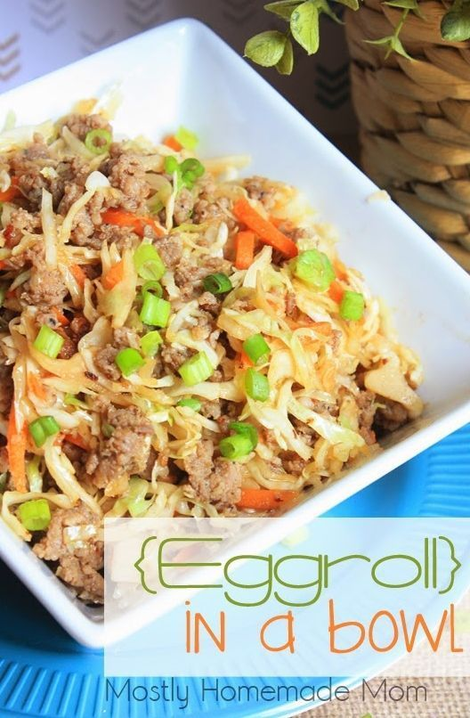 Eggroll In A Bowl - VIDEO - Mostly Homemade Mom