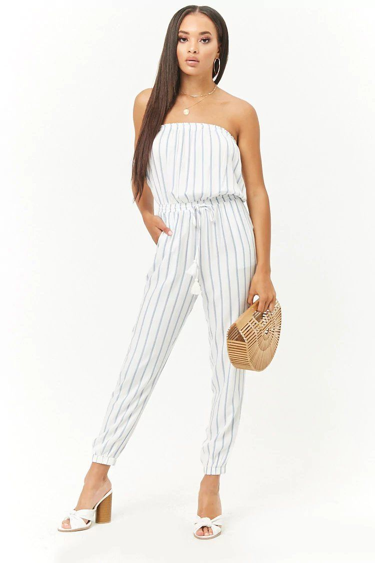 2ee4d38ddf75c Product Name:Striped Strapless Jumpsuit, Category:dress, Price:24.9 ...