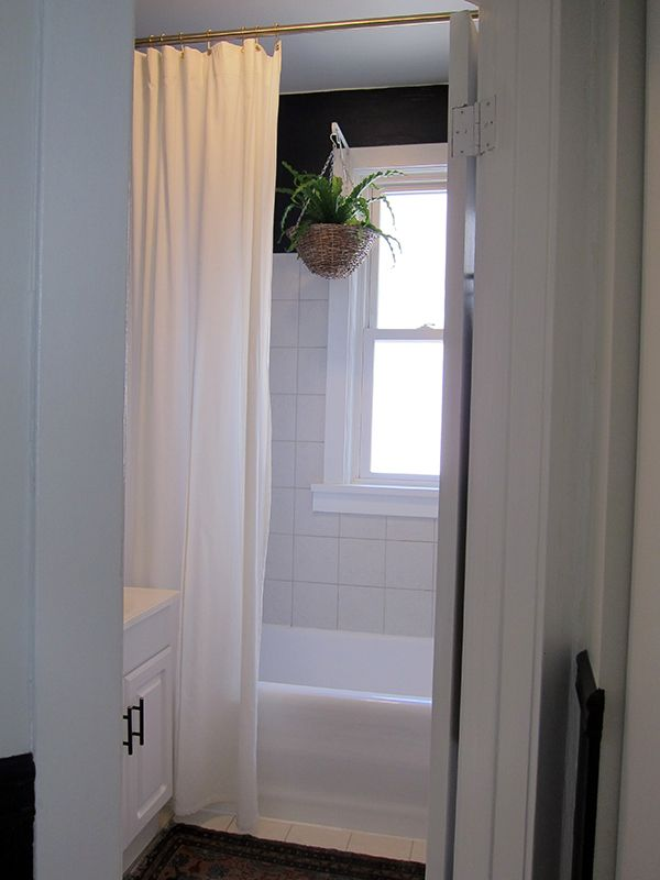 Extra Long Shower Curtain | Project Palermo | Ideas for bathroom ...