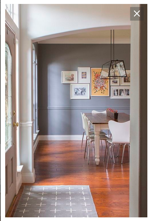 Chair rail option = paint molding same color as wall above ...