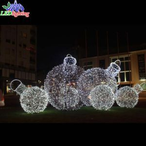 colorful commercial outdoor christmas decoration 3d motif christmas ball light pictures photos