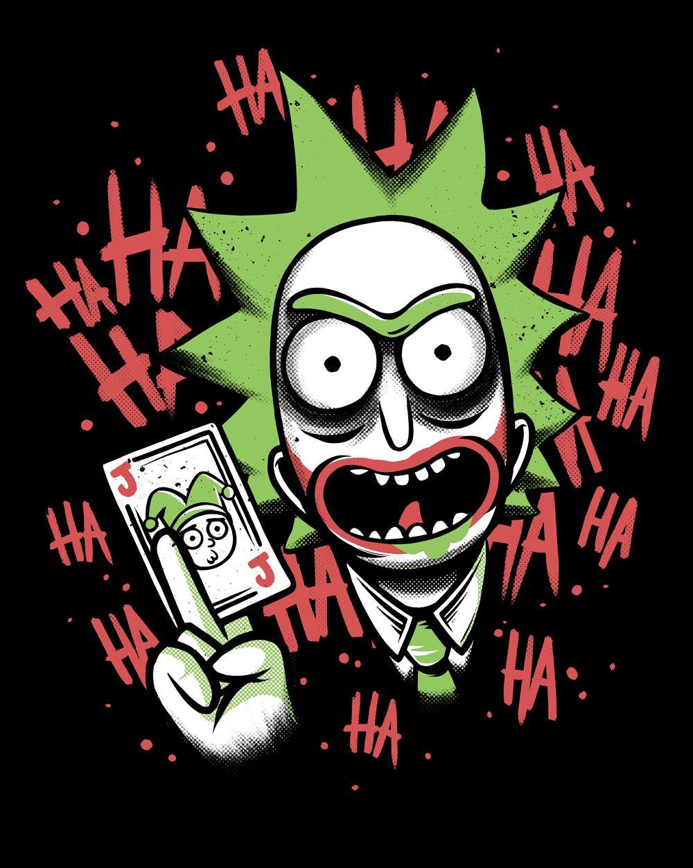 48a2dbf20 it and morty illustration. Camiseta Joker Rick - Masculina