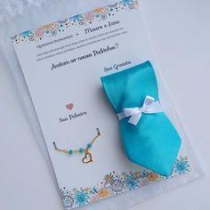 convite de madrinha e padrinho de casamento com gravata e pulseira - Pesquisa Google