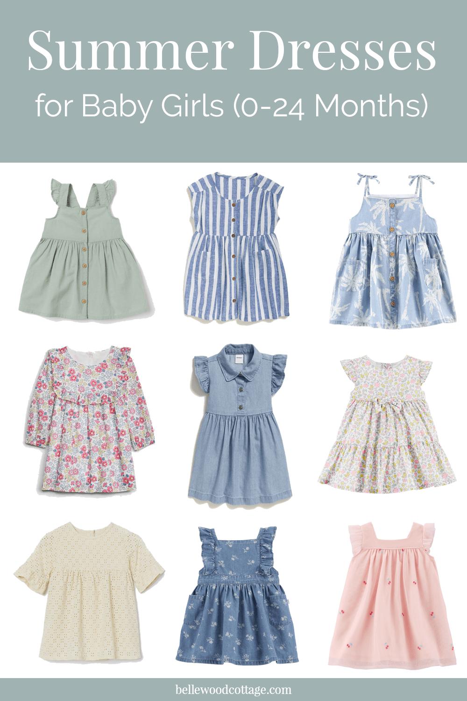 Summer Dresses for Baby Girls 4-4 Months - Bellewood Cottage