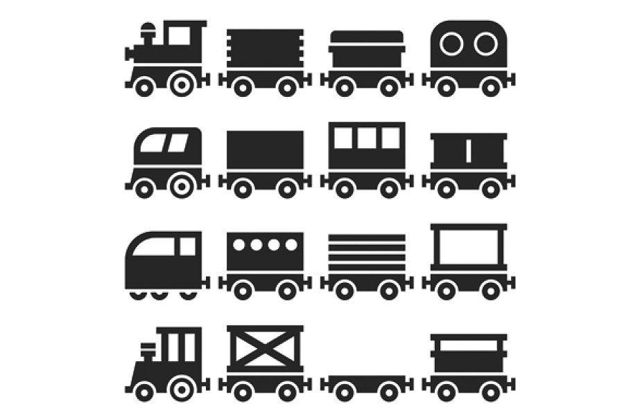 Toy Railroad Train Set Icon Set Icon Business Card Logo