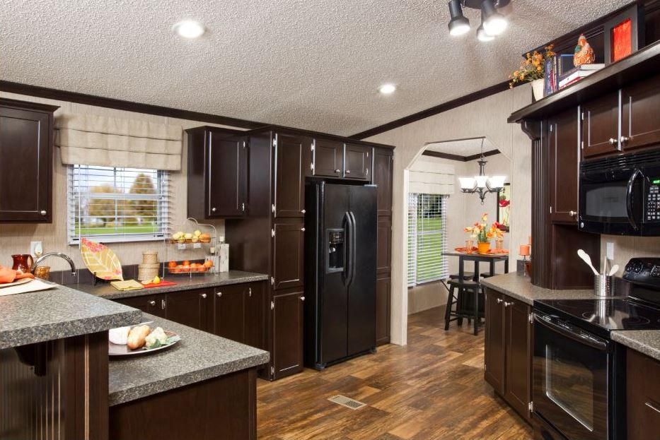 Single wide mobile home interiors faith homes new the cabinet are  little dark but floors great also rh pinterest