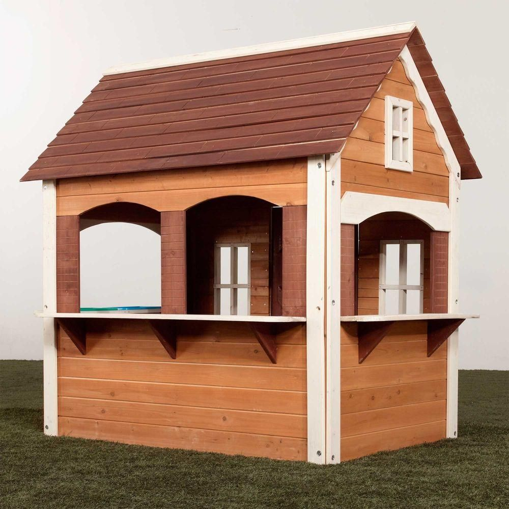 This Childrens Playhouse Kit Includes All Pre Cut Premium Stained