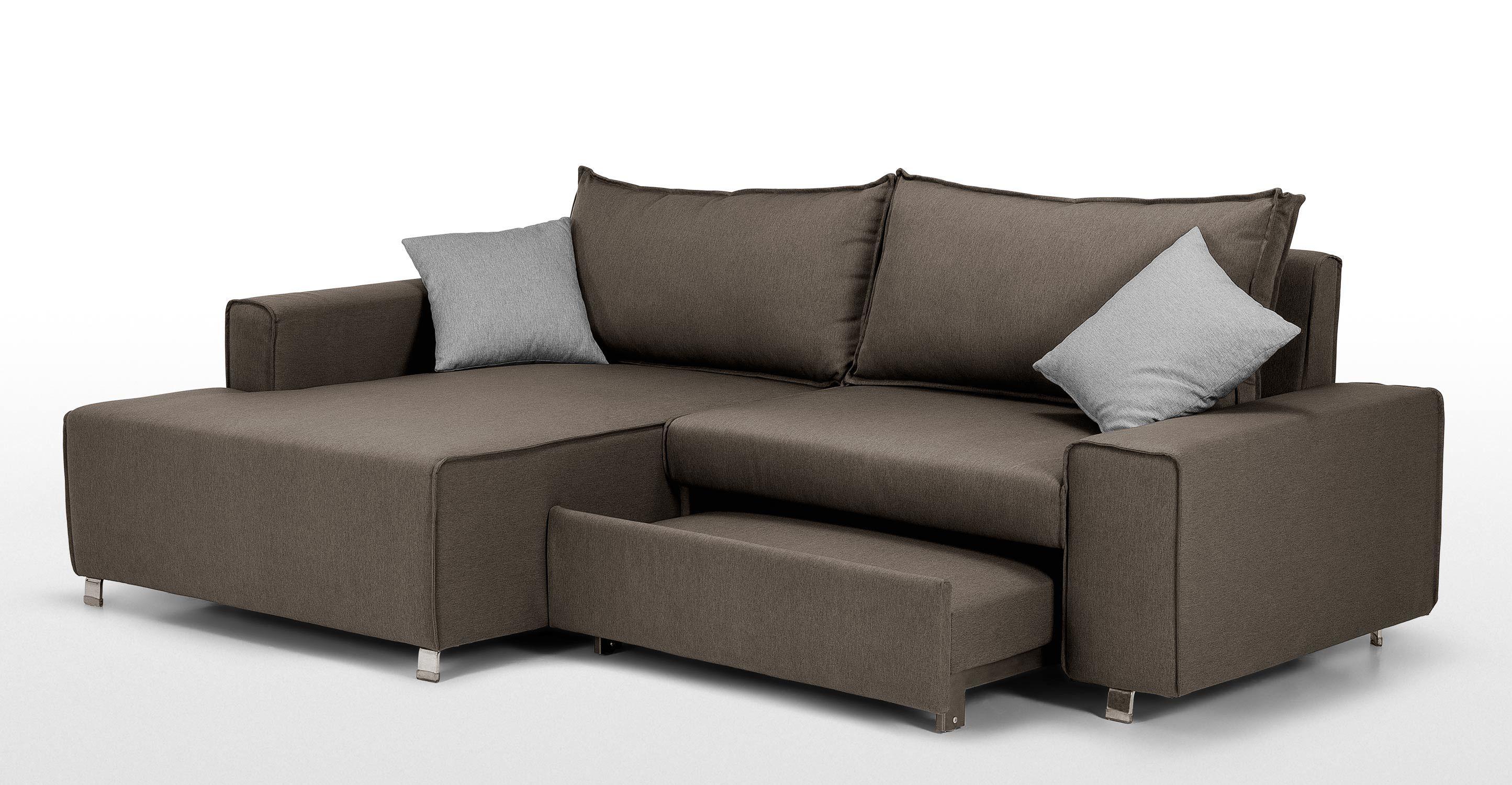 Prezzo € 649 Divano angolare con ola contenitore sinistra o destra e letto estraibile Dimensioni L 244 P 172 H 91 Interior design
