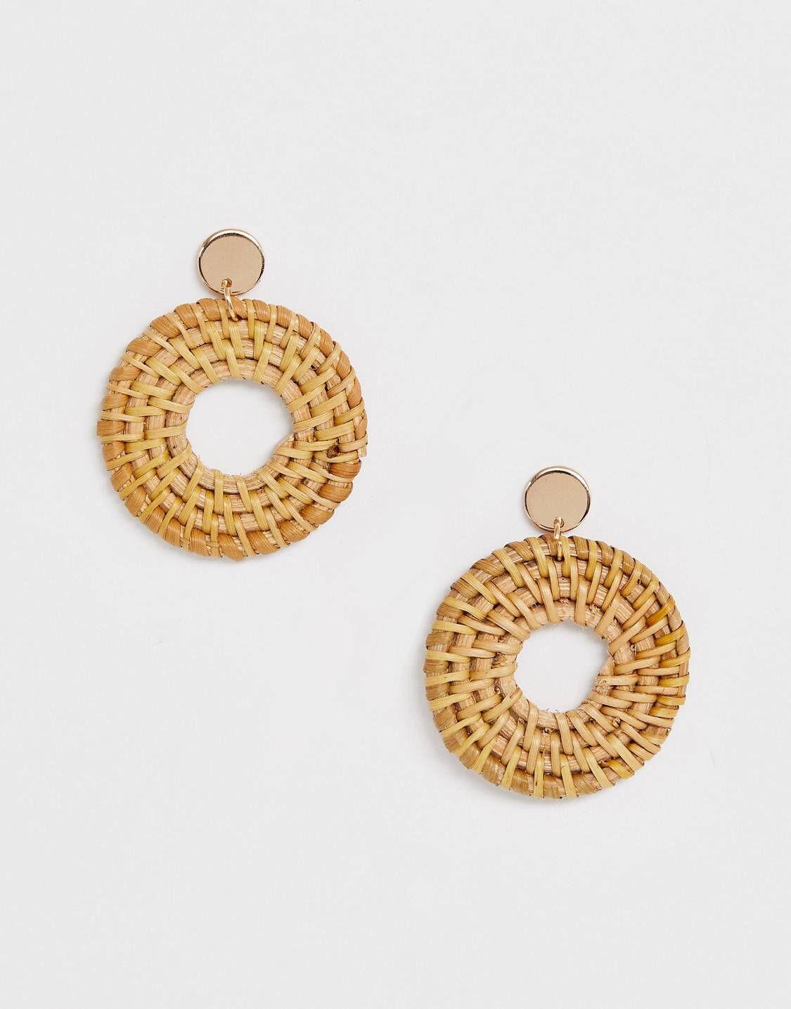 1f85bd400 ALDO Belarith woven straw hoop earrings in 2019 | Resin jewellery | Earrings,  Hoop Earrings, Resin Jewelry