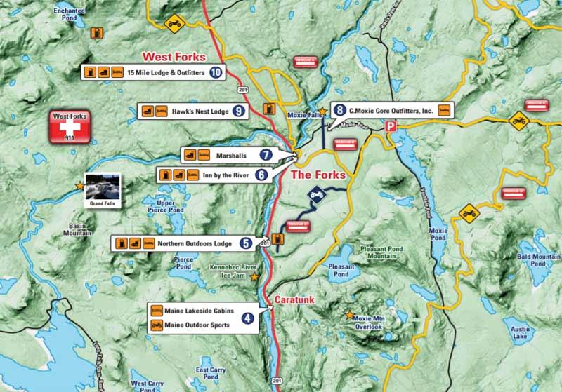 the forks maine map Atv Trails And Atv Utv Sxs Rentals Tours In The Forks Maine the forks maine map