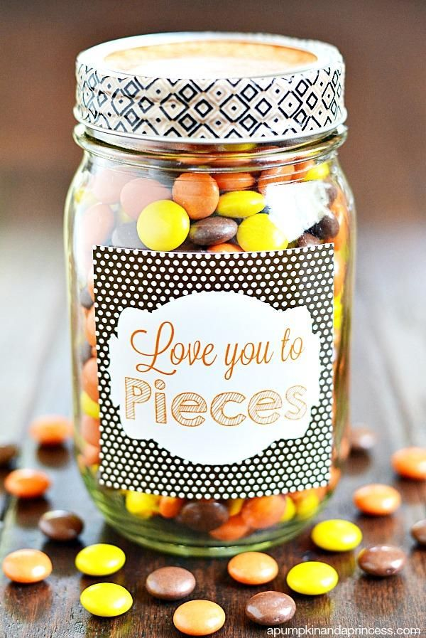 Love you to pieces mason jar gift wrapping homemade gifts love you to pieces mason jar gift negle Image collections
