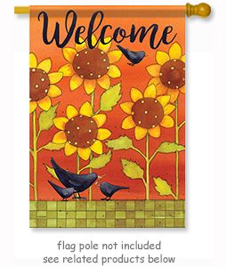 Sunny Fall Crows Flag By Artist Julie Dobson Miner Size 28 X 40 Always Free Shipping Flag Crow Wind Sock