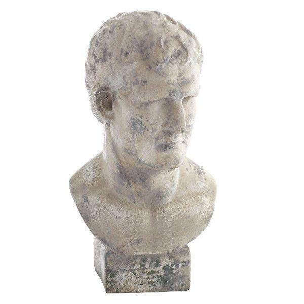Roman Bust Statue - White - NEW