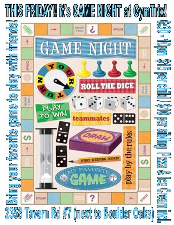 Game Night Flyer   Game Night/Party   Pinterest   Game ...