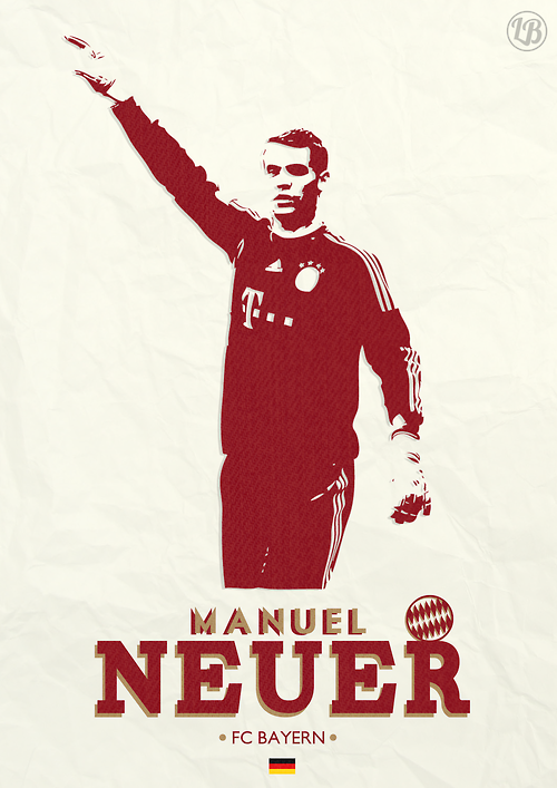 Manuel Peter Neuer Is A German Professional Footballer Who Plays As A Goalkeeper For And Captains Both Th Germany National Football Team Bayern Football Poster