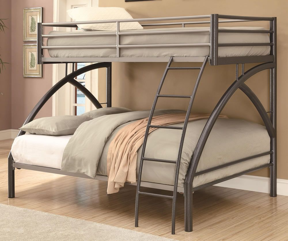 Uptown Contemporary Twin over Full Metal Bunk Bed | Litera ...