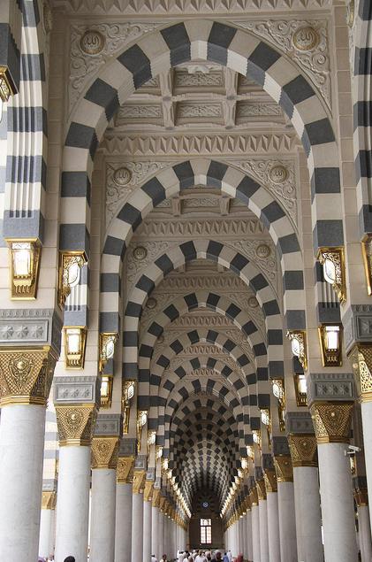 Interior Architecture Of Masjid Al Nabawl Madina SAUDI ARABIA
