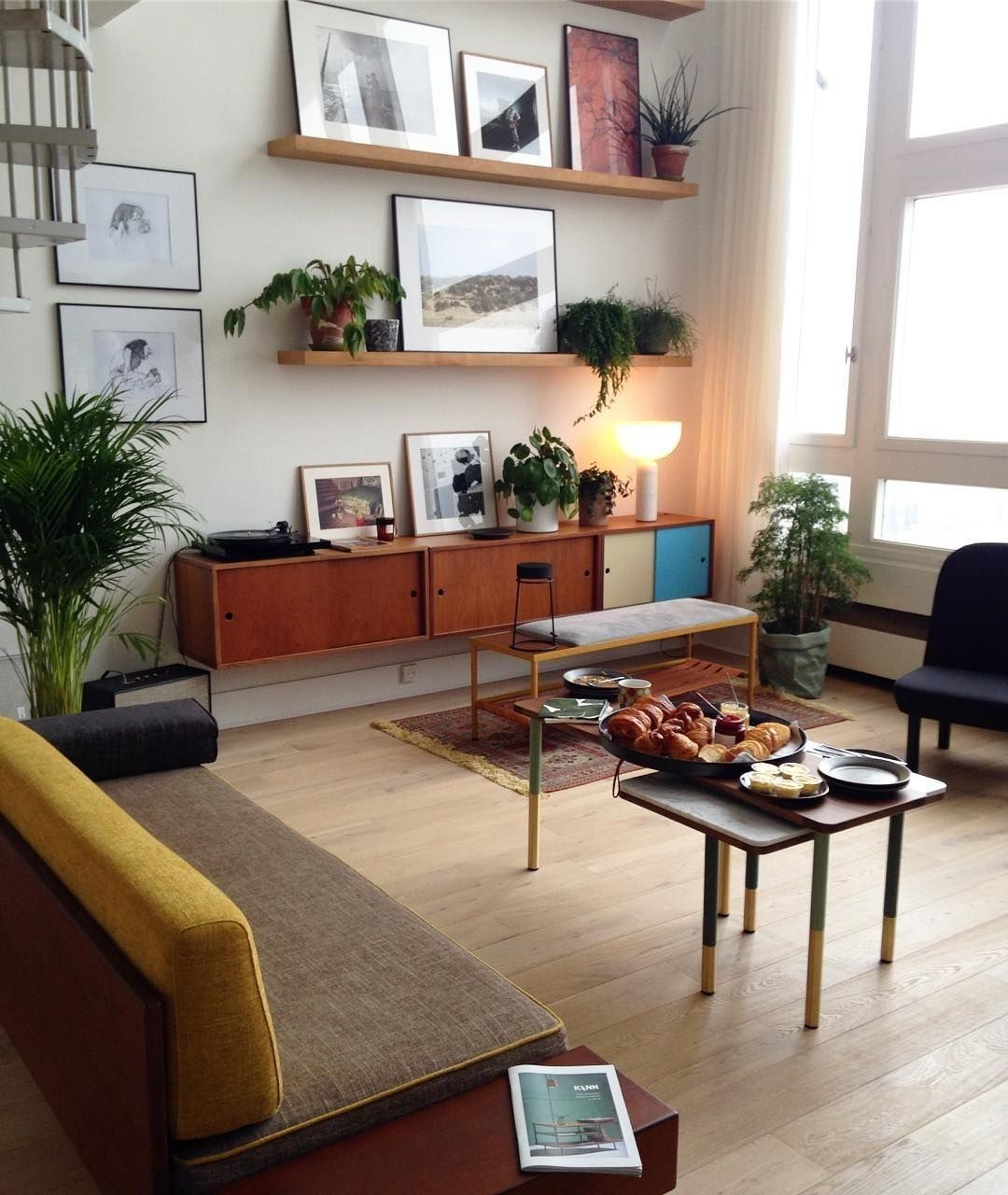 Photo of amazing vintage living room | natural color theme