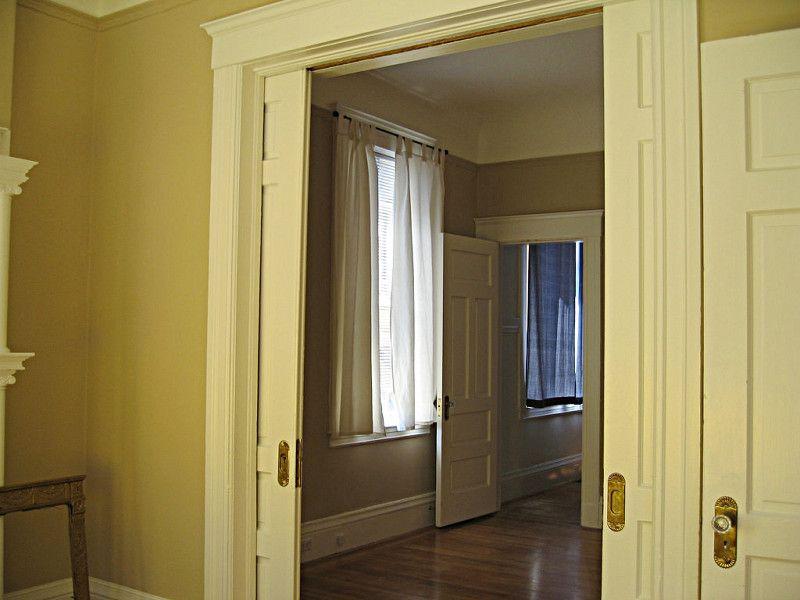 The Pros Cons Of Pocket Doors Networx Pocket Doors Small Bathroom Colors Cheap Barn Door Hardware