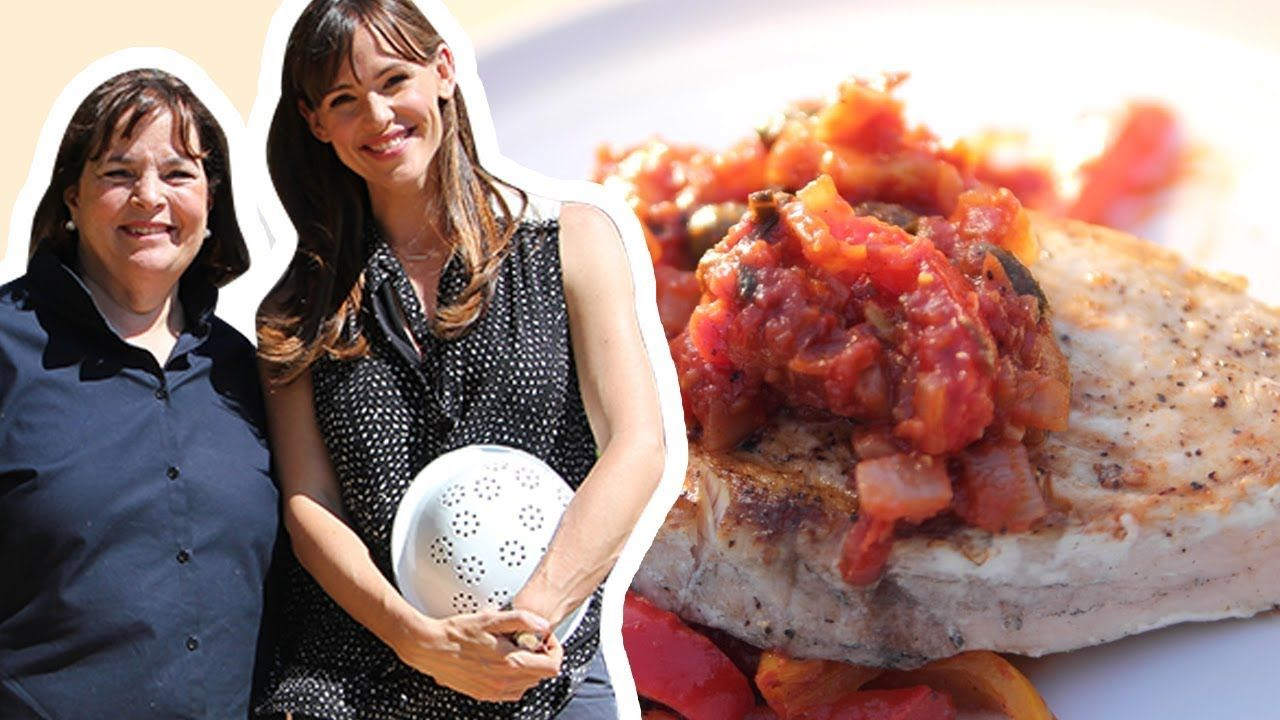 Ina Garten and Jennifer Garner Make Swordfish Provencal
