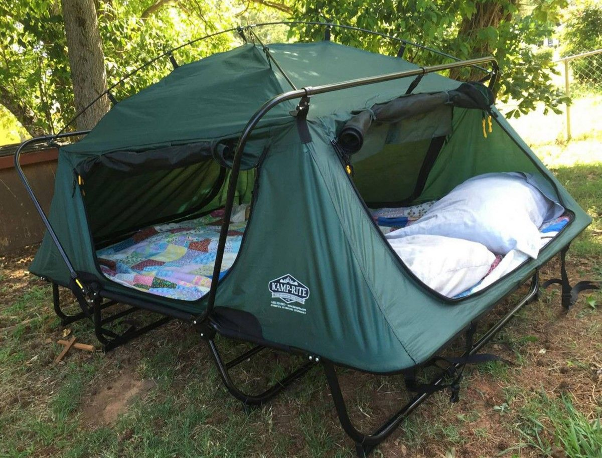 K& Rite Double Tent Cot Is Perfect For C&ing & Kamp Rite Double Tent Cot Is Perfect For Camping | Tent cot ...