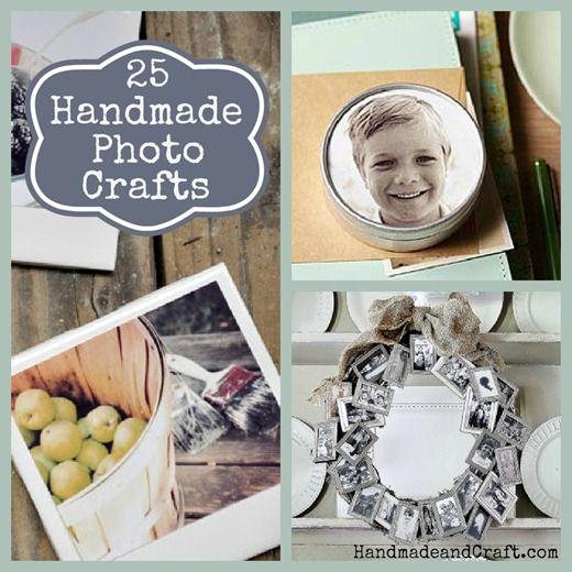 25 Handmade Photo Crafts {DIY Gifts}...great for those summer trip photos! HandmadeandCraft.com #diy #photography