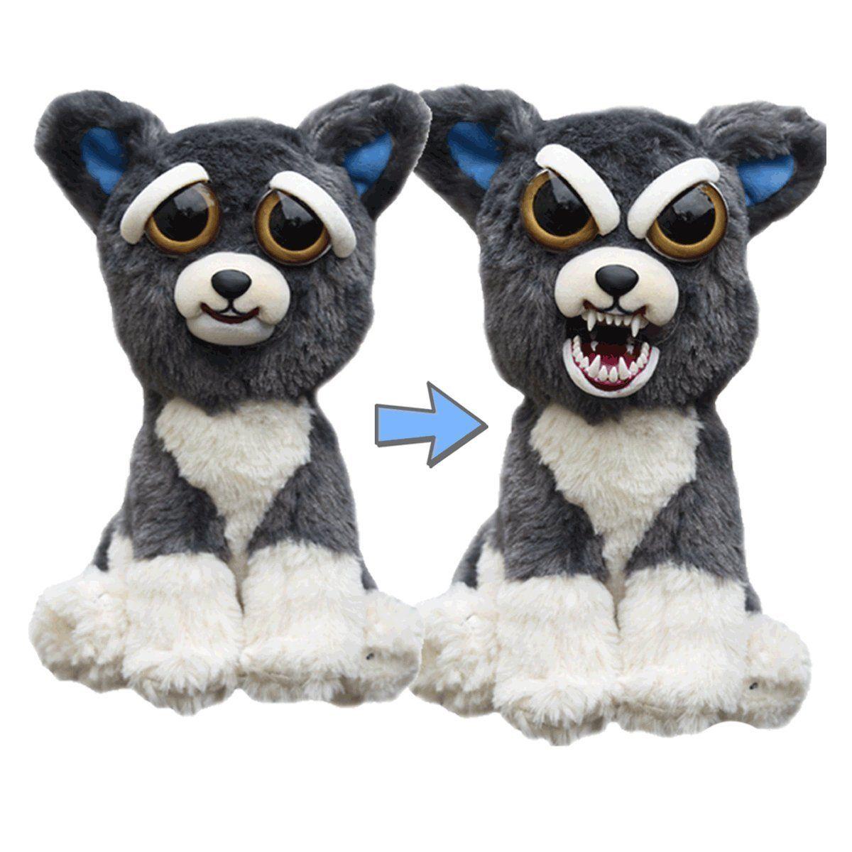 Amazon Com William Mark Feisty Pets Sammy Suckerpunch Adorable 8 5 Plush Stuffed Dog That Turns Fe Bear