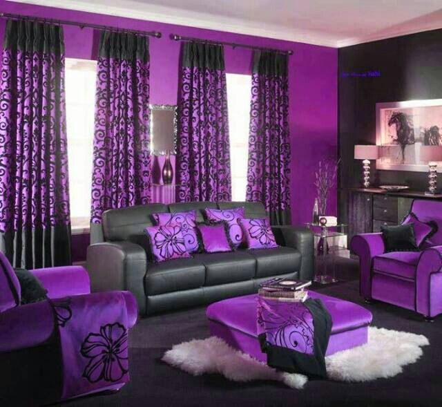 Love The Contrasting Colours Purple And Black One Of My Faves