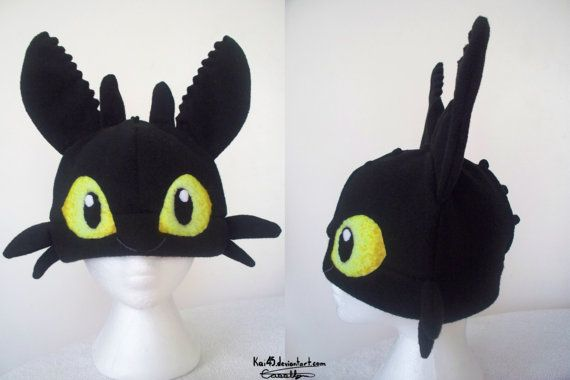 Toothless Hat Etsy. #HowToTrainYourDragon #Toothless